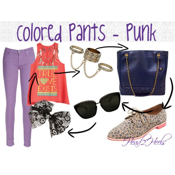 """Colored Pants - Punk"" by head2heels on Polyvore"
