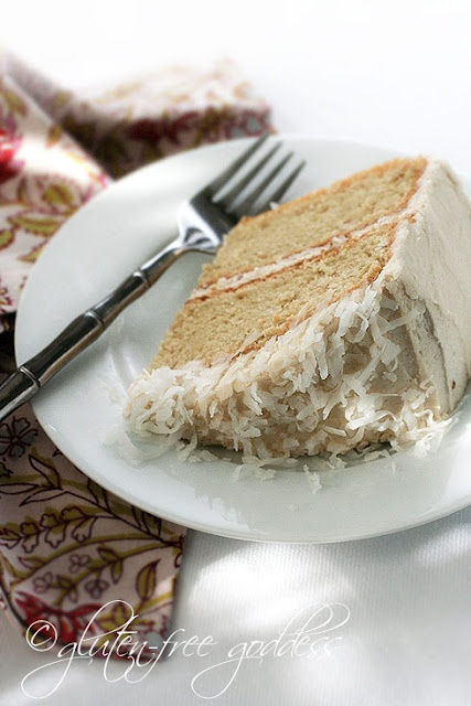Gluten-free Coconut Layer Cake | Yummy recipes | Pinterest