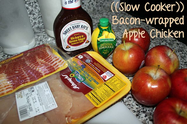 Slow Cooker Bacon Wrapped Apple Chicken :: Pictures for Sunday Night ...