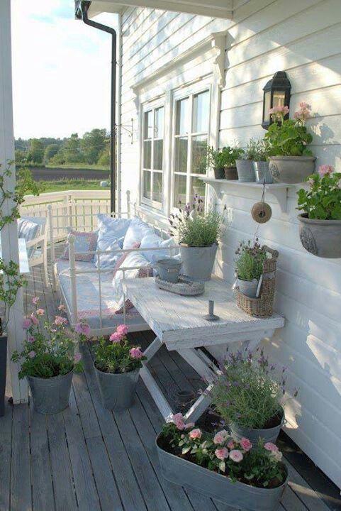 Terrasse Romantique vintage style Pinterest