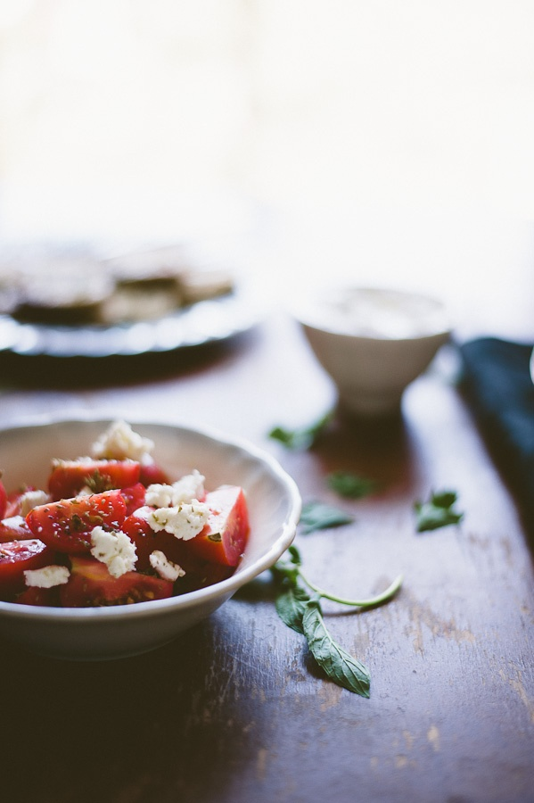 Greek Tomato and Feta salad | YUM!!!!! | Pinterest
