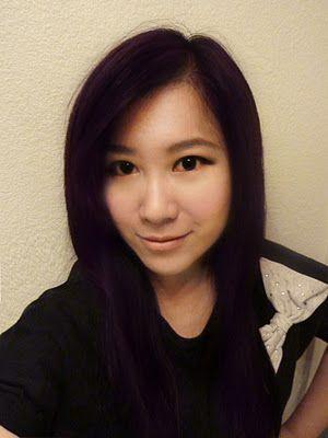 Black Hair with Purple Tint