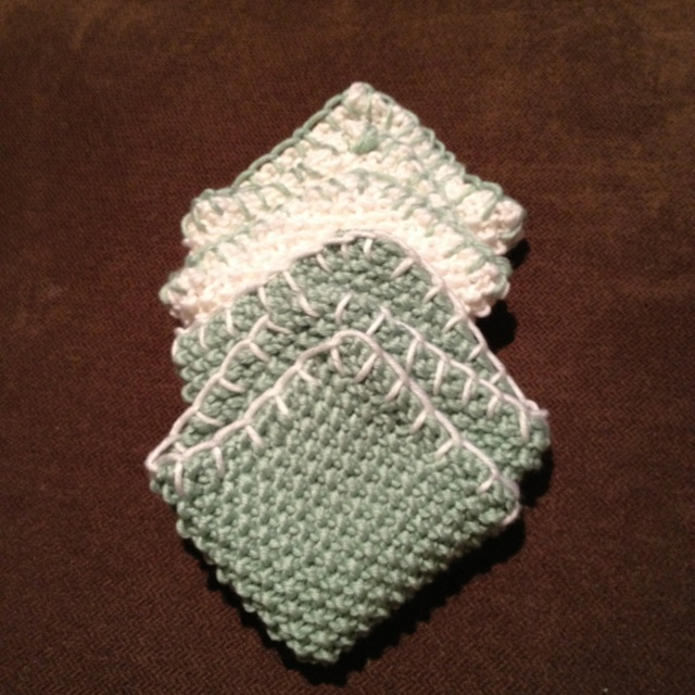 Knitting Patterns For Baby Washcloths : Knitted baby washcloths Knitting Pinterest
