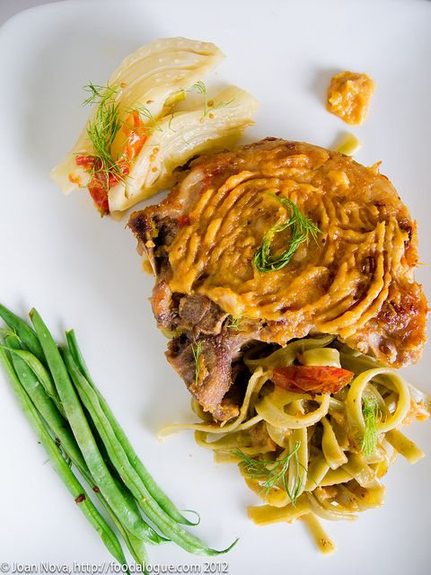 Braised Pork Chops and Fennel with Sambuca Sauce