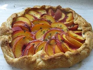 Peach Galette with Lemon Thyme & Lavender Honey