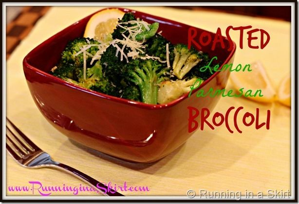 Roasted Lemon Parmesan Broccoli Easy and so yummy! #sidedish www ...