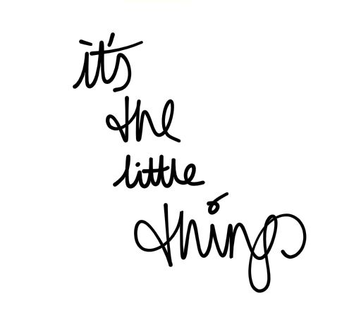 ❥ its the little things