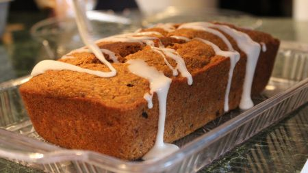 Amazingly moist vegan lemon glazed carrot cake loaf