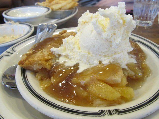 Apple Pie, Brandy Sauce, Vanilla Ice Cream | Yelp Langer's in LA