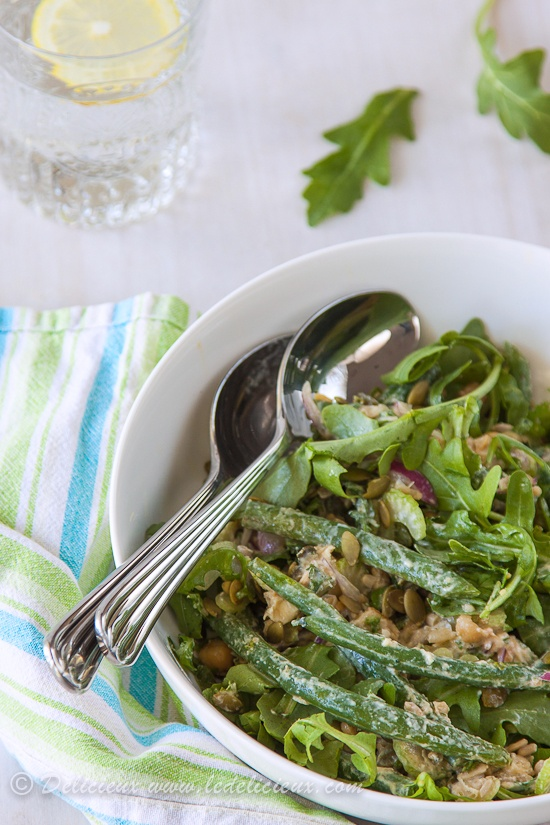 Green Bean Salad with Yoghurt Miso Dressing | via Delicieux ...