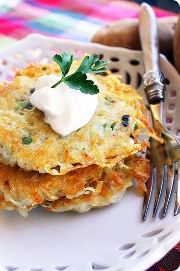 scallion potato pancakes