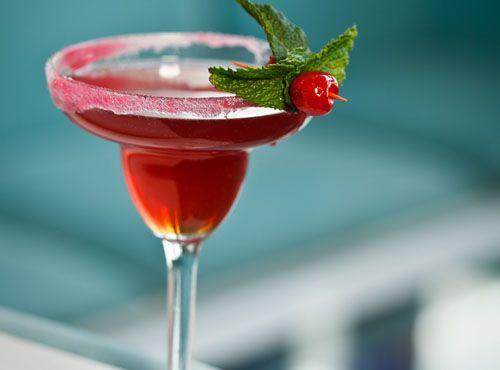 Margarita (37.5ml Gold tequila 20ml Chambord Liqueur 50ml pomegranate ...