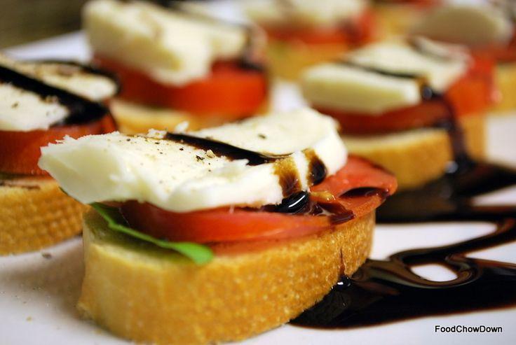 Caprese Bruschetta. | Appetizers | Pinterest