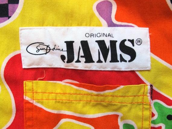 Vintage 1980s Mens Jams By Surfline Crazy Pattern by kokorokoko, $42.00
