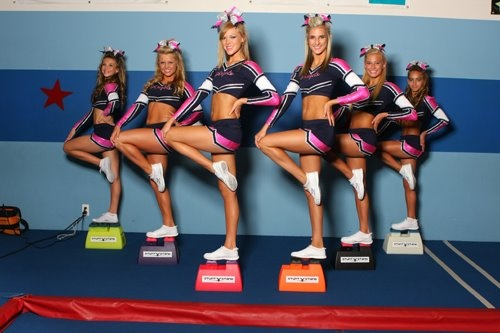 Cheer Channel's Superstars of All-Stars pose on Cheerleading Stunt Stands to improve their stunting!