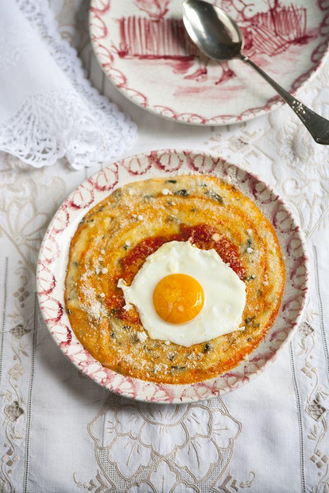 egg over polenta | Breakfast | Pinterest