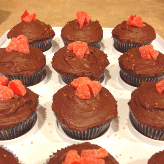Orange chocolate cupcakes | Cupcakes | Pinterest
