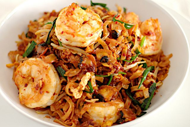 Penang Char Kuey Teow-Famous fried flat noodle of Penang,Malaysia.