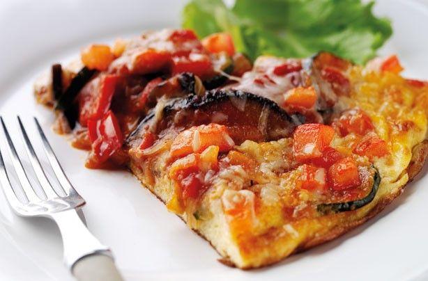 Annabel Karmel ratatouille omelette #Healthy #Lunch
