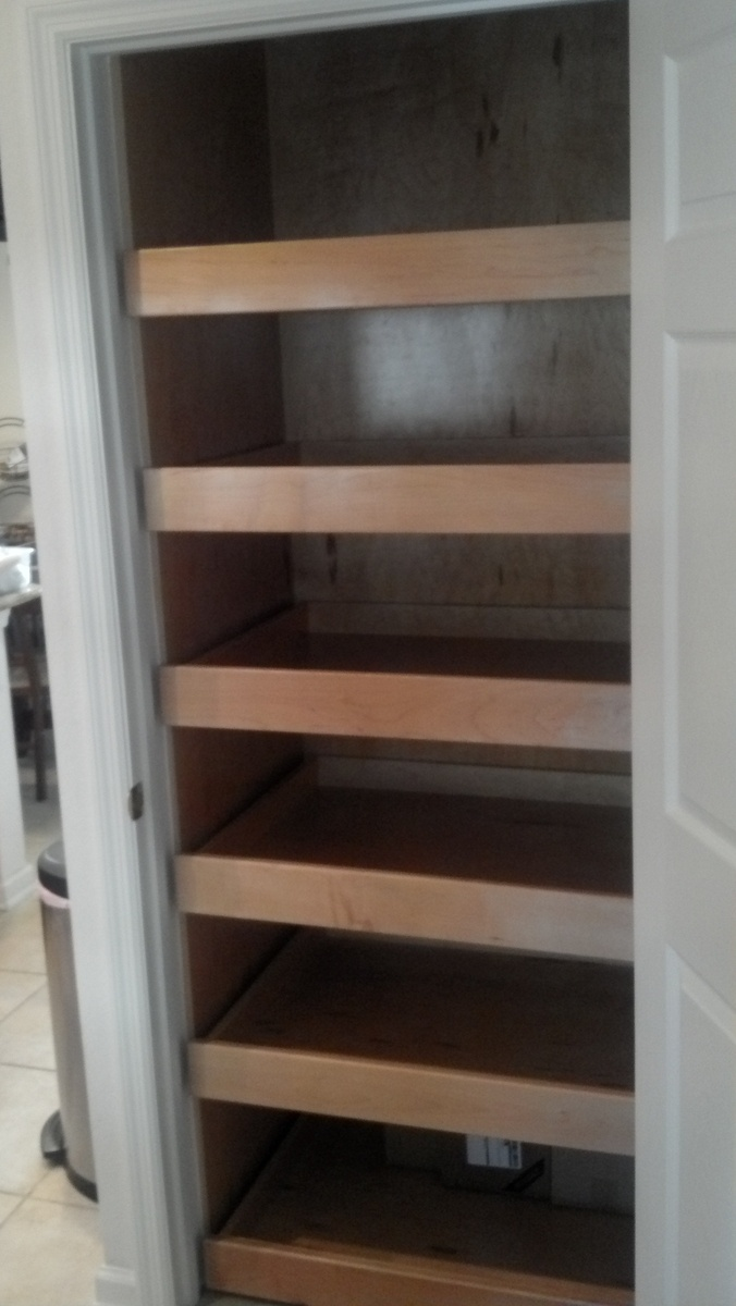 Pantry Cabinet Pull Out Shelves For The Home Pinterest