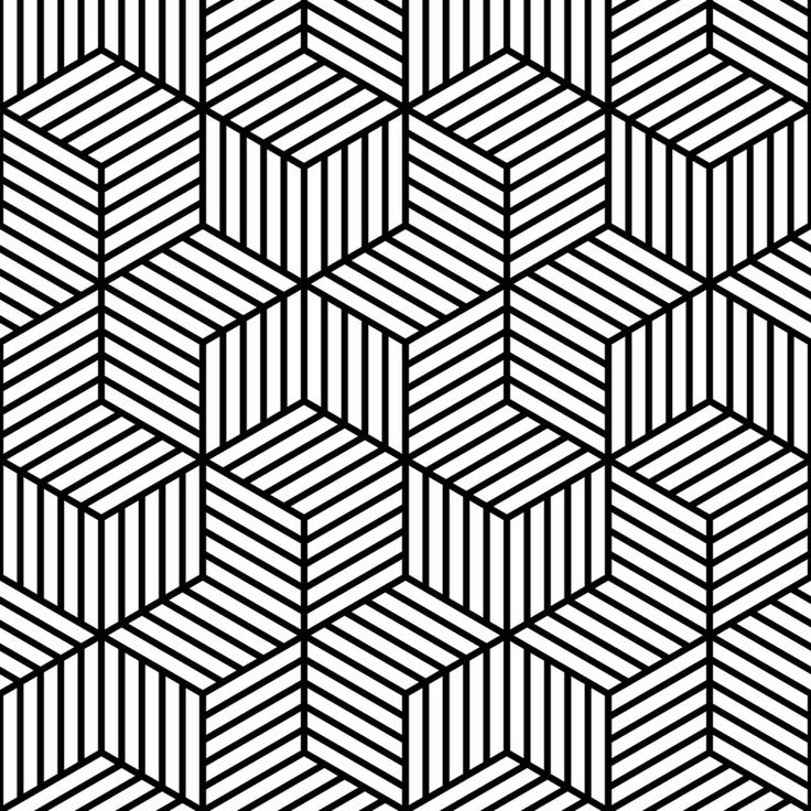 Black And White Line Designs : Cool black and white geometric design joy studio