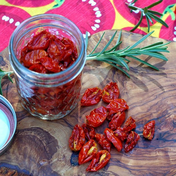 Garden Fresh, Oven-Dried Tomatoes | cooking | Pinterest
