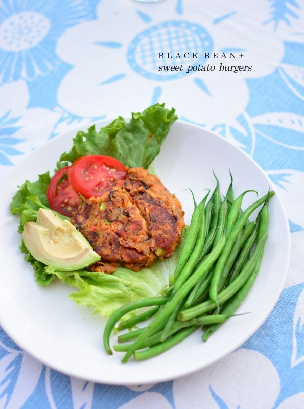 black bean + sweet potato burgers | Healthy Living | Pinterest