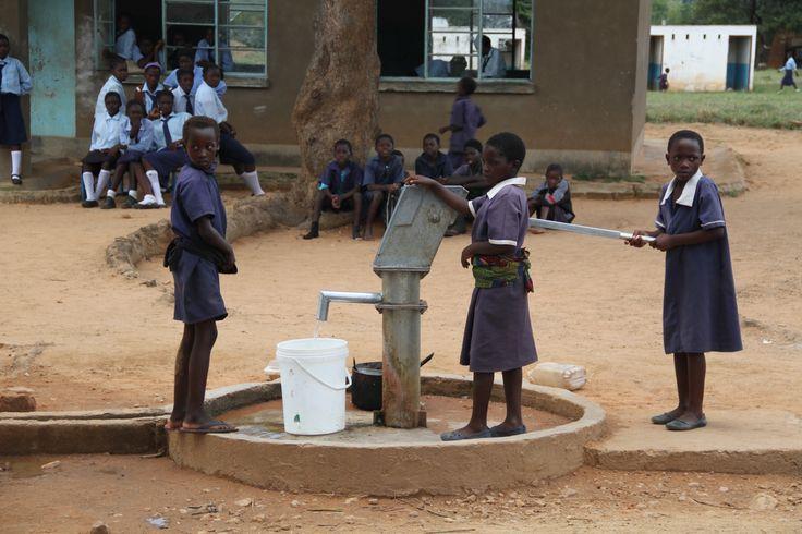 Zambian school borehole