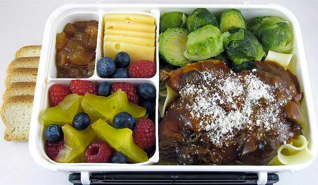 Chicken Merlot with Mushrooms Bento by Cathryn3, via Flickr