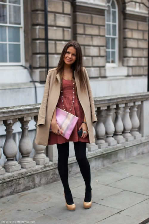 Black tights light shoes my style pinterest
