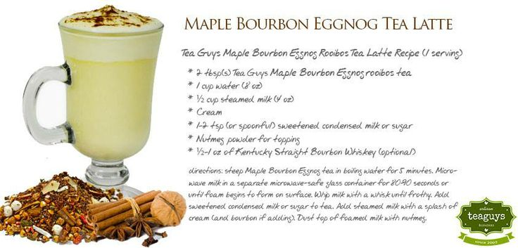 Maple Bourbon Eggnog Tea Latte