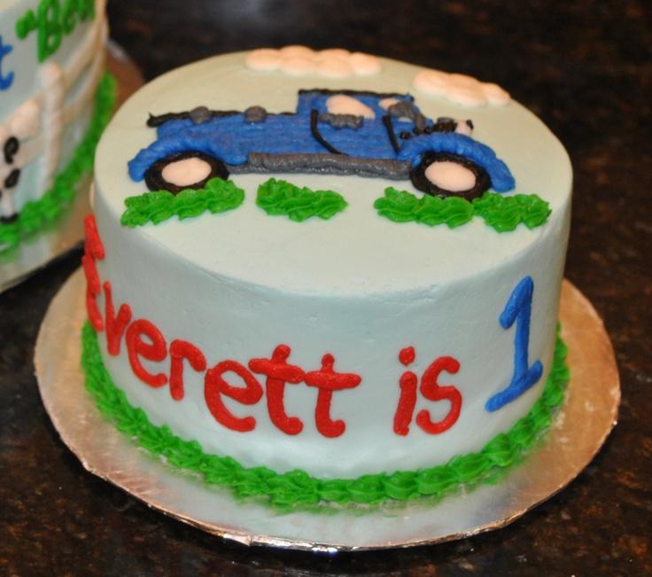 Blue Truck Cake - smash cake  Cadens First Birthday-Little Blue ...