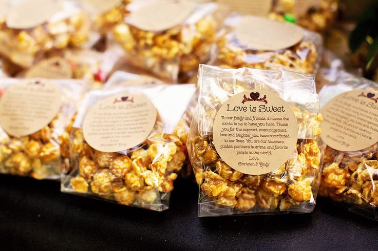 Caramel Popcorn For Wedding Favors