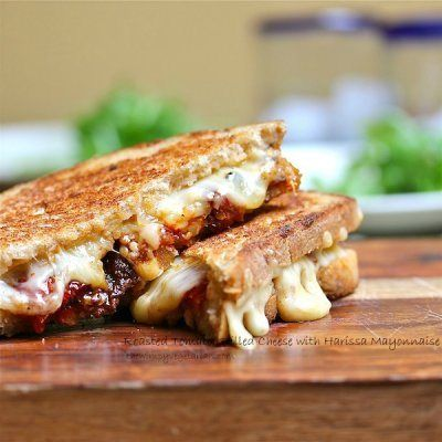 Roasted Tomato Grilled Cheese Sandwich with Harissa Mayonnaise | Reci ...