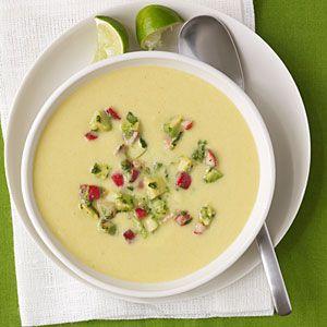 Chilled Corn Soup | MyRecipes.com #myplate #vegetable