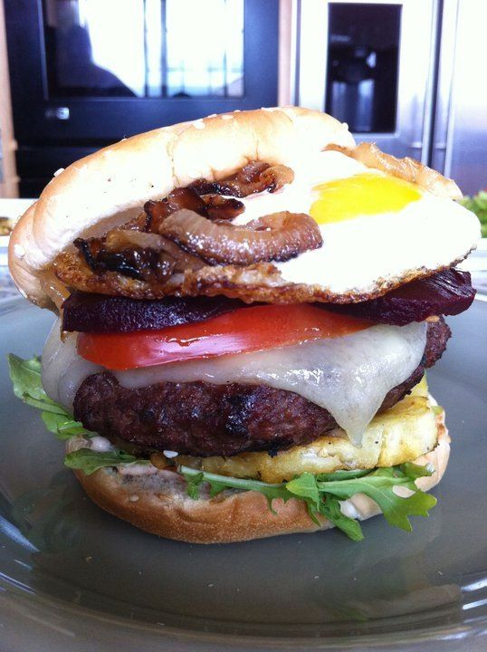Aussie Burger | Remembering what I make... | Pinterest