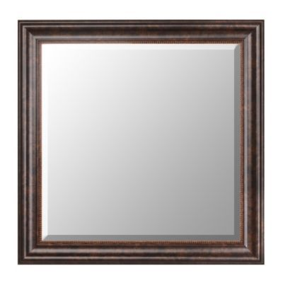 bronze framed mirror 30x30 kirklands