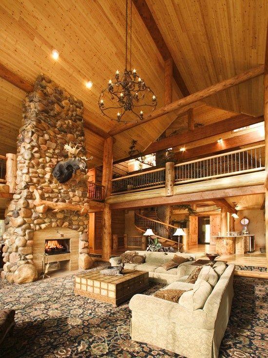 Log Cabin Kitchens Design Home Sweet Home Pinterest