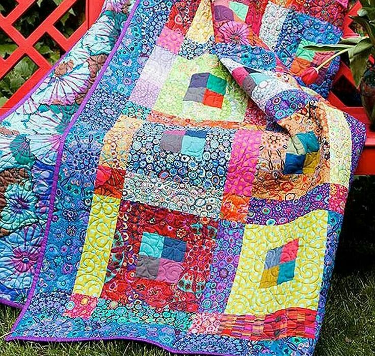 Colorful quilt. Quilting Pinterest