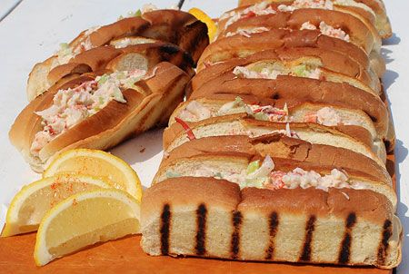 ... roll; Connecticut style uses lobster chunks warmed in drawn butter