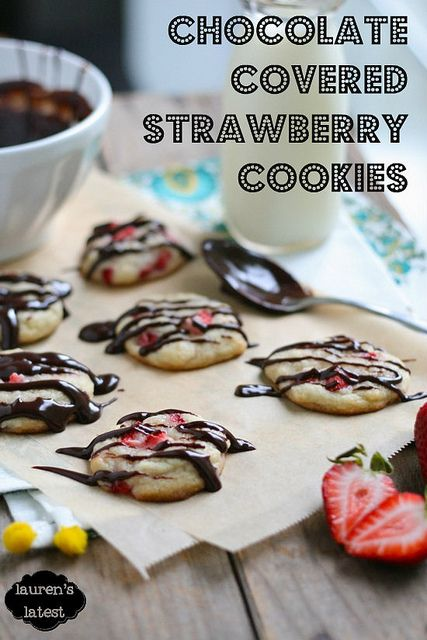 Chocolate Covered Strawberry Cookies 1 by laurenslatest, via Flickr