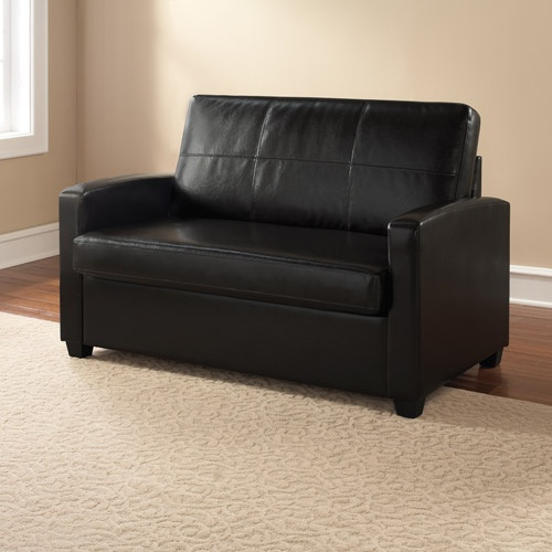 Mainstays Sofa Sleeper Black Faux Leather