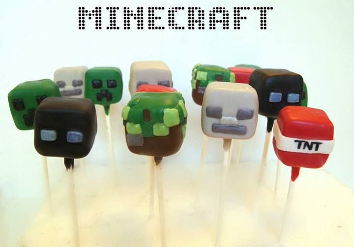minecraft cake pop