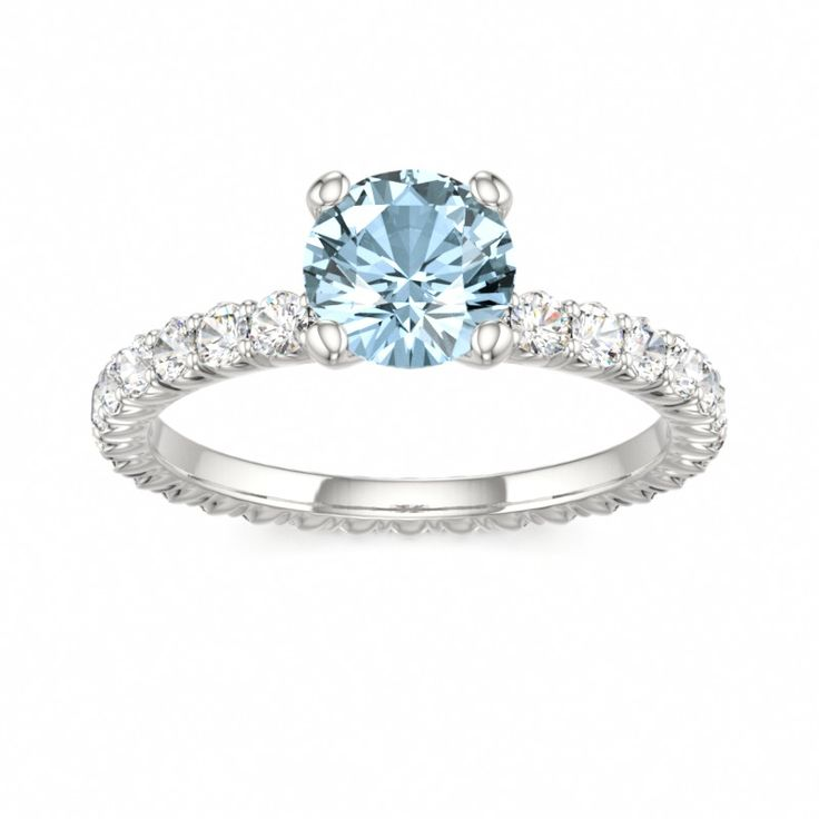 Aquamarine engagement ring beadsjewelry pinterest for Wedding rings aquamarine