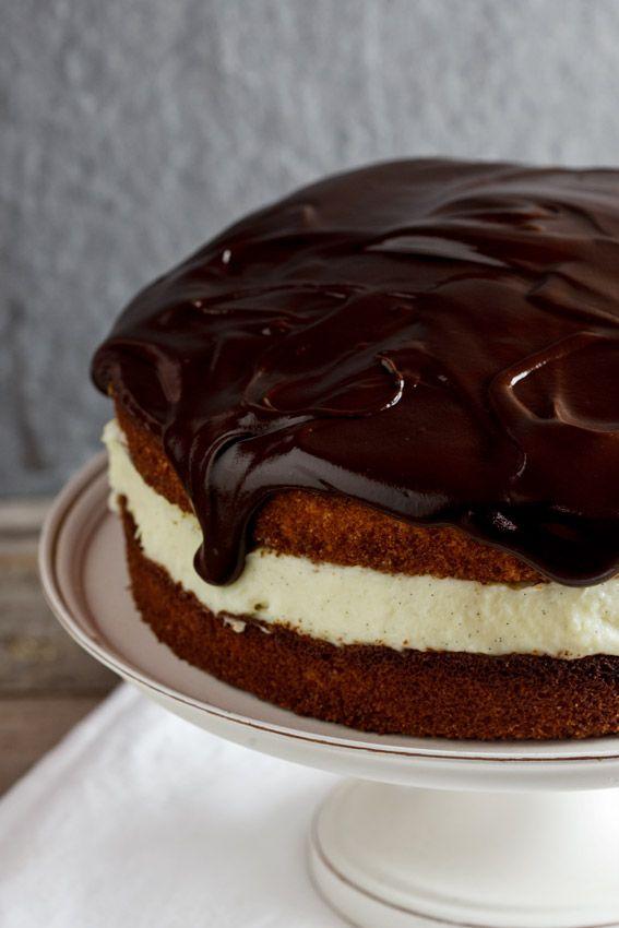 Coconut Boston Cream Pie -- a great twist on a classic!