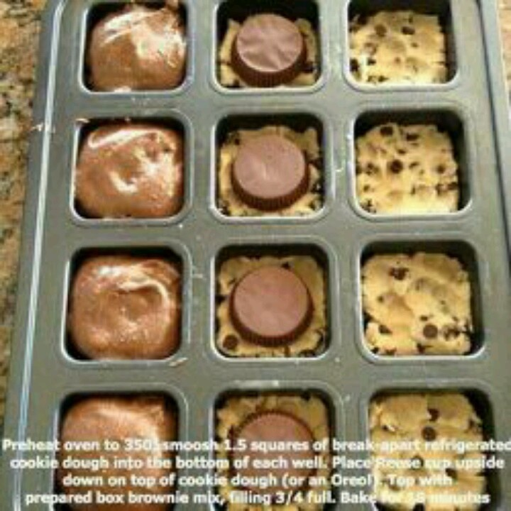 cookie dough & reese cups | Desserts | Pinterest