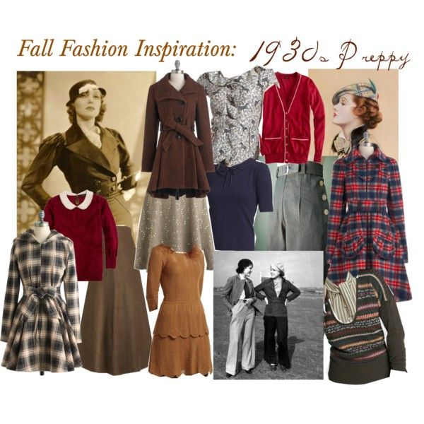 Fall Fashion Inspiration 1930s Preppy