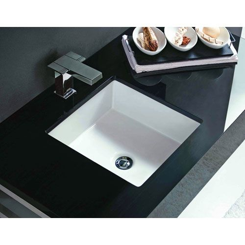 ... Undermount Square Sink Cantrio Koncepts Undermount Bathroom Sinks Bath