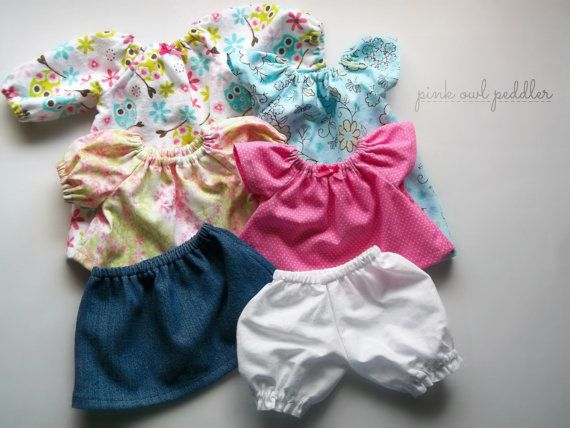 Doll clothes set for 12 inch 13 inch doll waldorf or other baby dolls