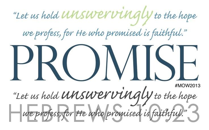 Hebrews 10:23 | Words ... | Pinterest